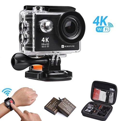 bcb639422a10e Cámara Acción Deportiva 4K WiFi Ultra HD Videocámara Impermeable ...