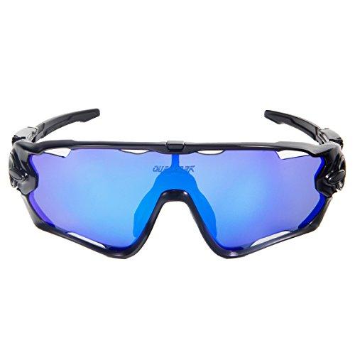 af3934fe0 Gafas de Sol Deportivas Polarizadas,Queshark TR90 UV400 Unisex Gafas de Sol  Deportivas Polarizadas 3 Lentes de Cambios Incluido para Deporte ...
