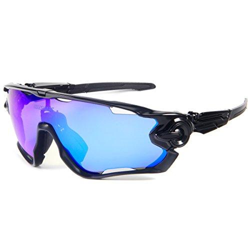 910e782d3c Gafas de Sol Deportivas Polarizadas,Queshark TR90 UV400 Unisex Gafas ...