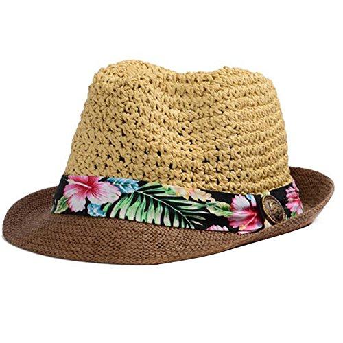 5b6927b16ace0 JUNGEN Sombrero de paja sombrero de Panamá viento Graffi recorrido ...