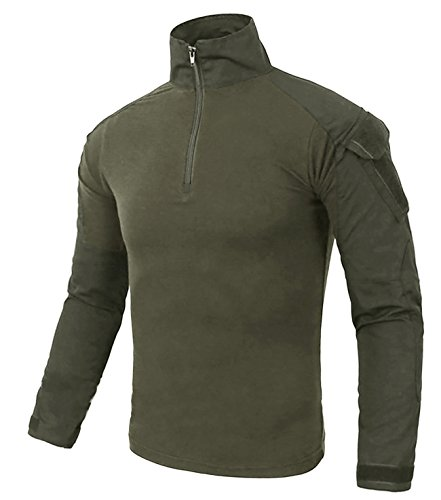 nuevo producto f55bc c31fa KEFITEVD Camisa Camuflaje Hombre Slim Fit Camisas Manga Larga Camiseta  Militar Táctico Combate Camisetas