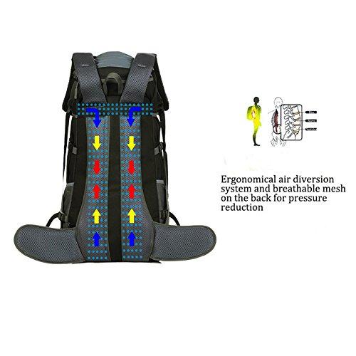b5facc682 Para 55l Trekking Impermeable 50l amp  Mochila Mochilas Ucslife qZtA00