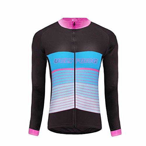 7834edb5a41 Uglyfrog Último Mujer Warm Ciclismo Mangas Largas Maillots Cremallera  Completa Moda Transpirable Winter Cálido Ropa Deportiva