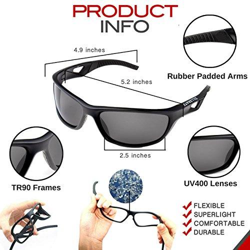509d3256bb Zillerate Gafas de Sol Polarizadas Deportivas para Hombre y Mujer – Protección  UV400 ...