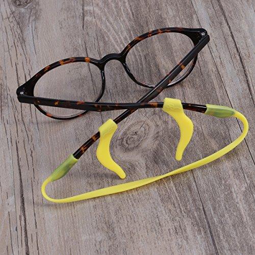 4d8168a80b rosenice 5 conjuntos de elástica antideslizante silicona Kids niños de gafas  retenedor soporte para ...
